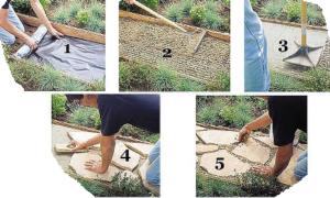 Устройство садовых дорожек из бетона